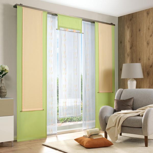 Voile-Gardine mit Uni-Deko für Ihren Wohnraum