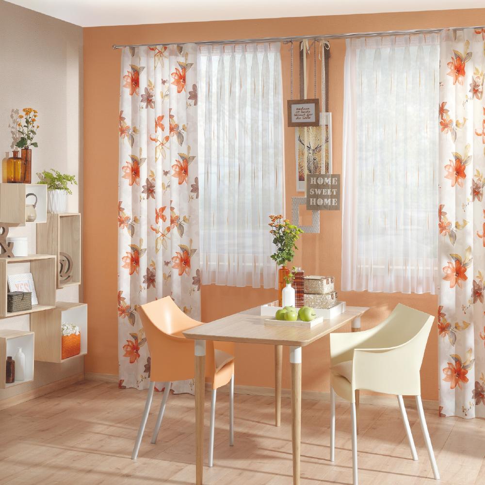 Ttl Gardinen: Floral Bedruckte Dekostoff Für Ihr Esszimmer