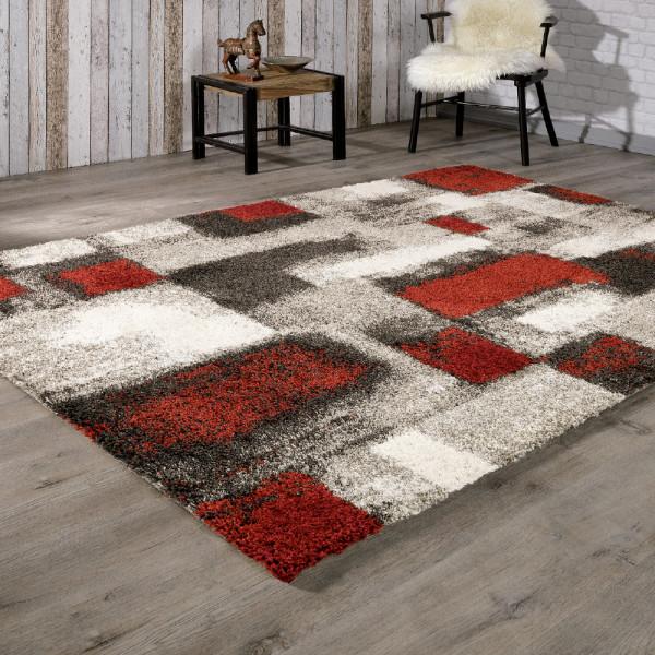 Moderner Teppich mit Farbakzent