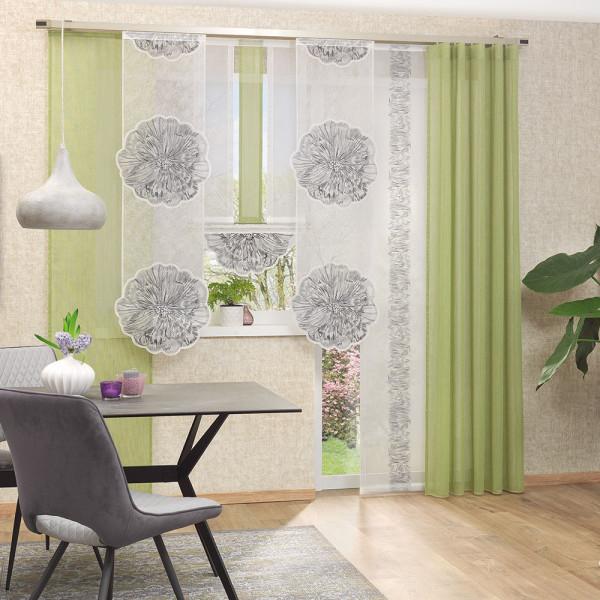 Gardinen-Kombi mit Applikationen für Ihr Wohn- oder Esszimmer