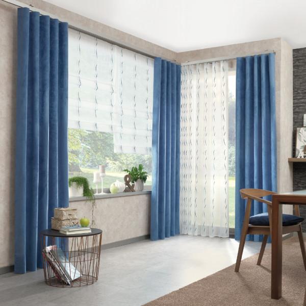 Gardinen-Deko-Komposition für Ihr Wohn- oder Schlafzimmer