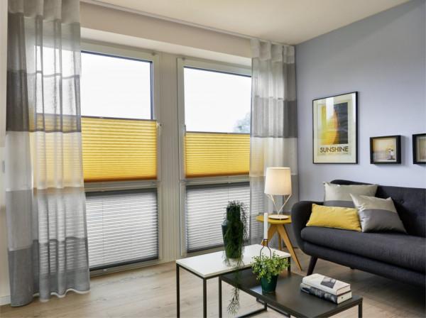 Gardine und Plissee für Ihr Wohnzimmer