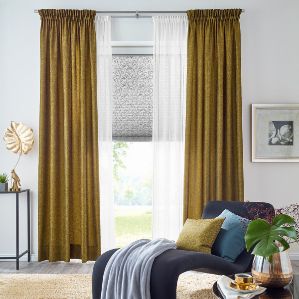 Vorhang-Gardinen-Duo für Ihr Wohnzimmer
