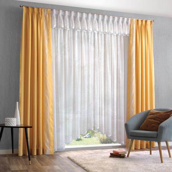 Gardine mit Deko-Vorhang für Ihr Wohnzimmer