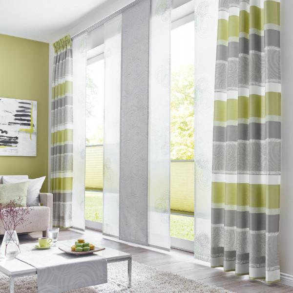 Deko-Vorhang plus Schiebegardine für Ihr Wohnzimmer