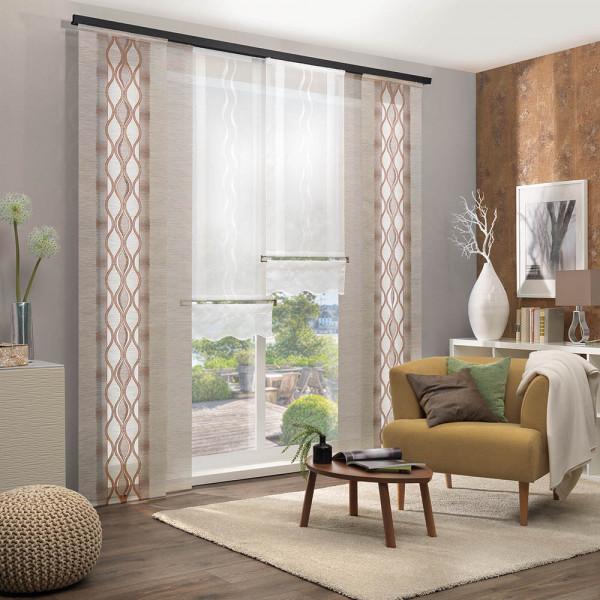 Flächen-Vorhang-Kombi für Ihre Wohnräume