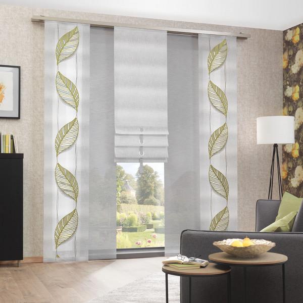 Vorhang-Rollo-Kombi mit Stickerei für Ihr Wohn- oder Esszimmer
