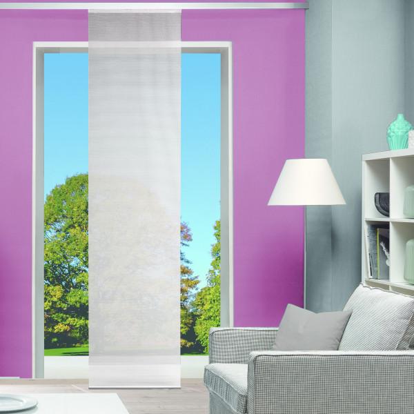 Schlichter Schiebevorhang für Ihr Wohnzimmer