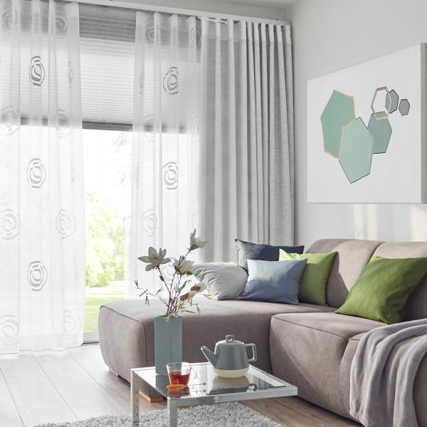 Vorhang mit Gardine für das Wohnzimmer