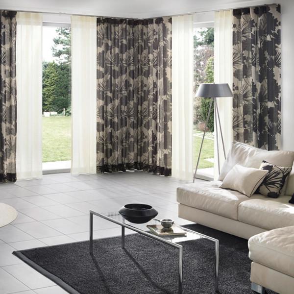 Florale Deko für Ihr Wohnzimmer | Gardinen & Vorhänge | Fenster ...