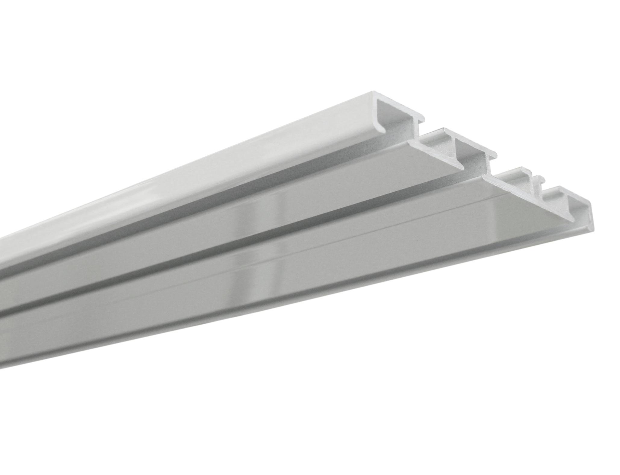Extrem Aluminium-Vorhangschiene 3-läufig weiß | Gardinenschienen DH26