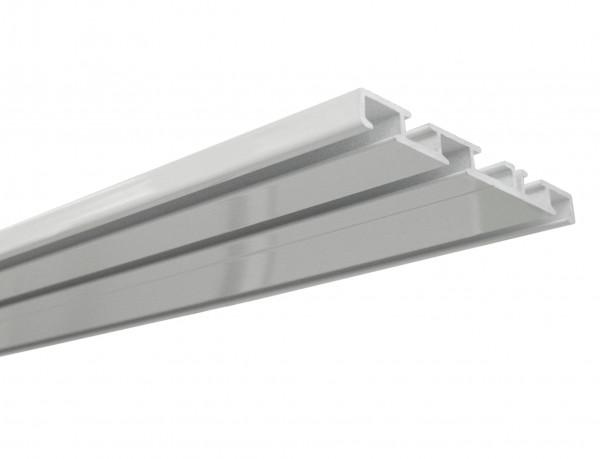 Aluminium-Vorhangschiene 3-läufig weiß