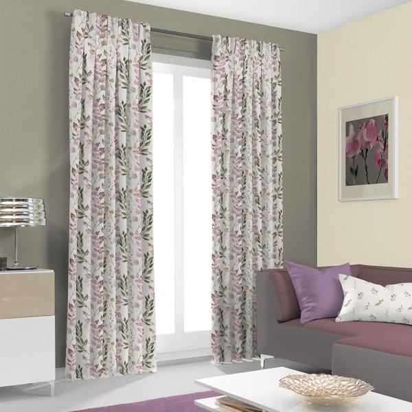 Floraler Vorhang und Kissen für Ihr Wohnzimmer
