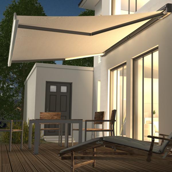Kassetten-Markise mit LED-Licht* für Ihre Terrasse