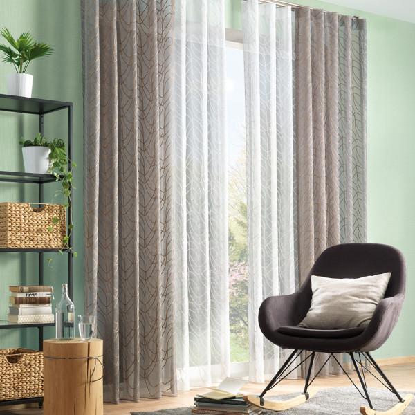 Raumhoher Vorhang für Ihr Wohnzimmer oder Schlafzimmer