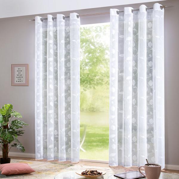 Bestickter Ösenvorhang für Ihr Wohn- oder Schlafzimmer