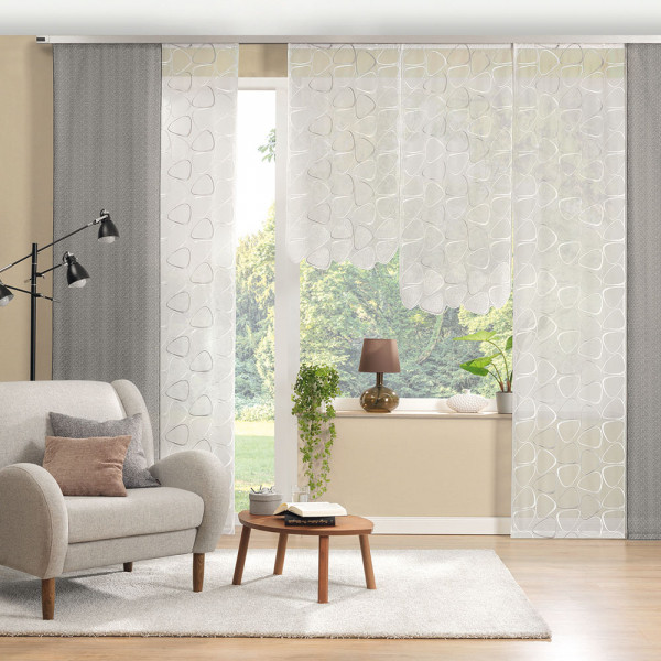 Flächen-Gardinen für Ihr Wohnzimmer