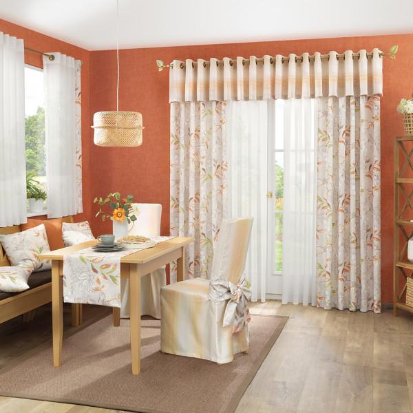 Gardinen-Dekostoff-Kombination für Ihr Wohnzimmer