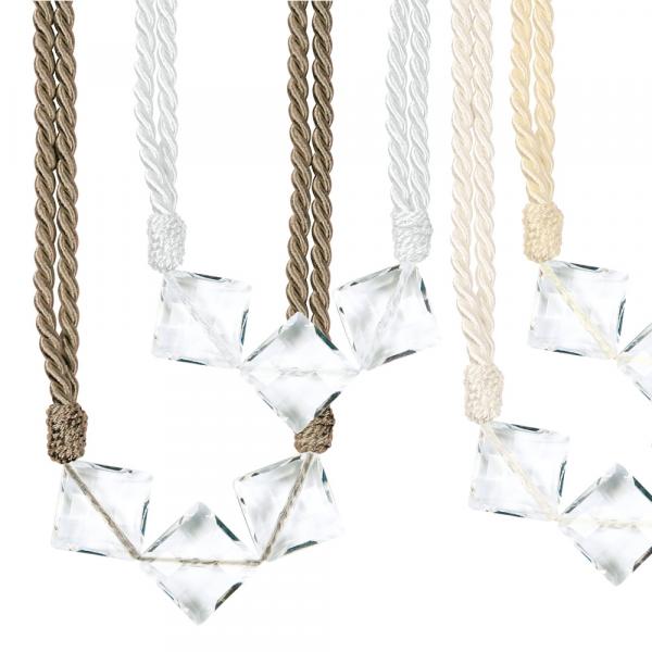 Raffhalter mit Glas-Perlen