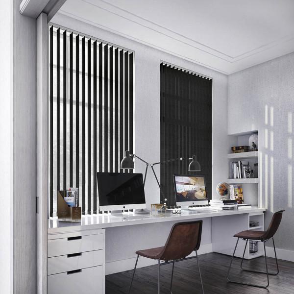 Lamellenvorhänge für Ihr Arbeitszimmer