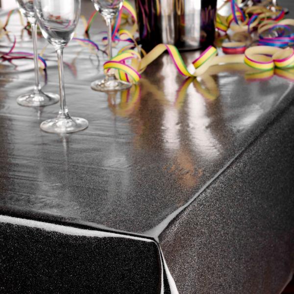 Glitterfolie für den festlichen Esszimmer-Tisch