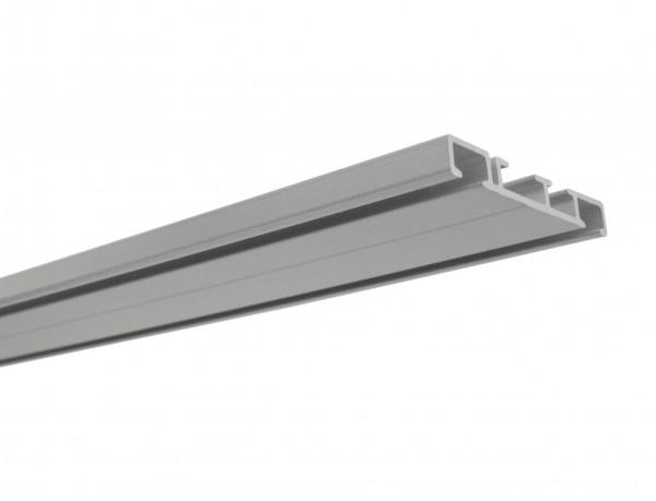 Aluminium-Vorhangschiene 2-läufig aluminium