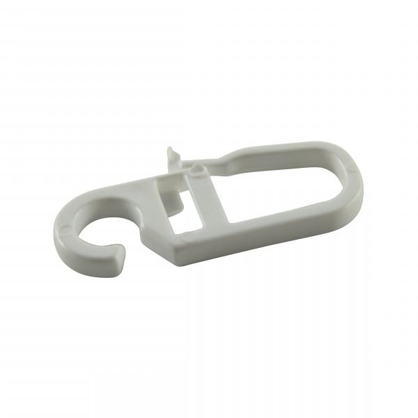 Faltenleghaken für Ringe mit Gleiteinalgen weiß