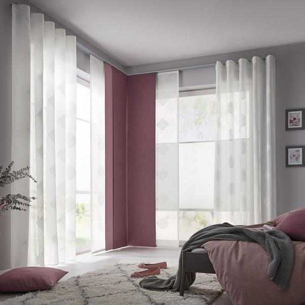 Flächen-Vorhang und Gardine für Ihr Schlafzimmer