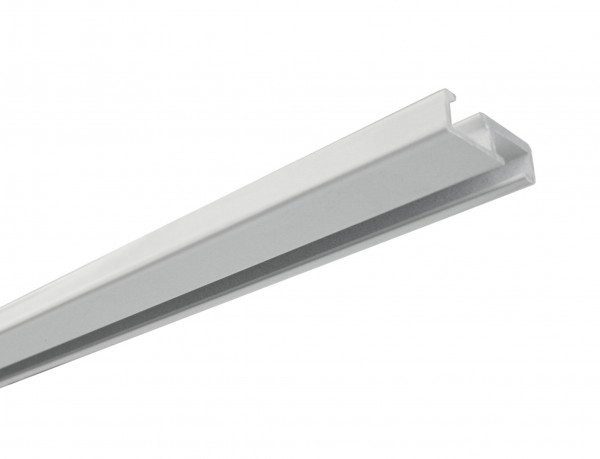 Aluminium-Vorhangschiene 1-läufig weiß