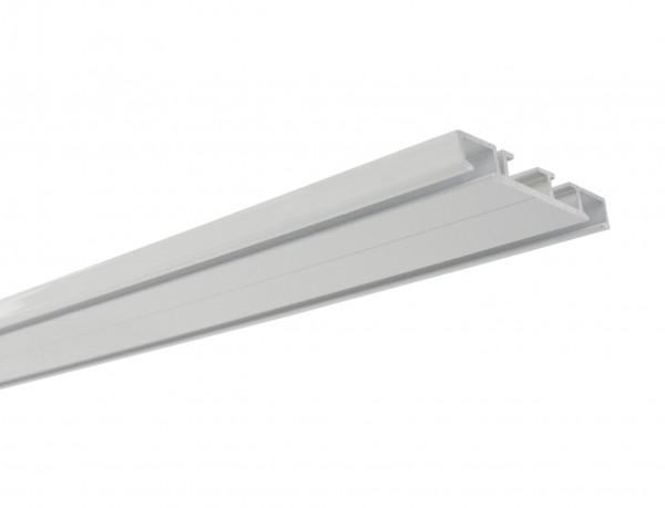 Aluminium-Vorhangschiene 2-läufig weiß
