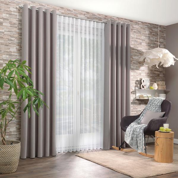 Gardine mit Dekostoff für Ihr Wohn- oder Schlafzimmer