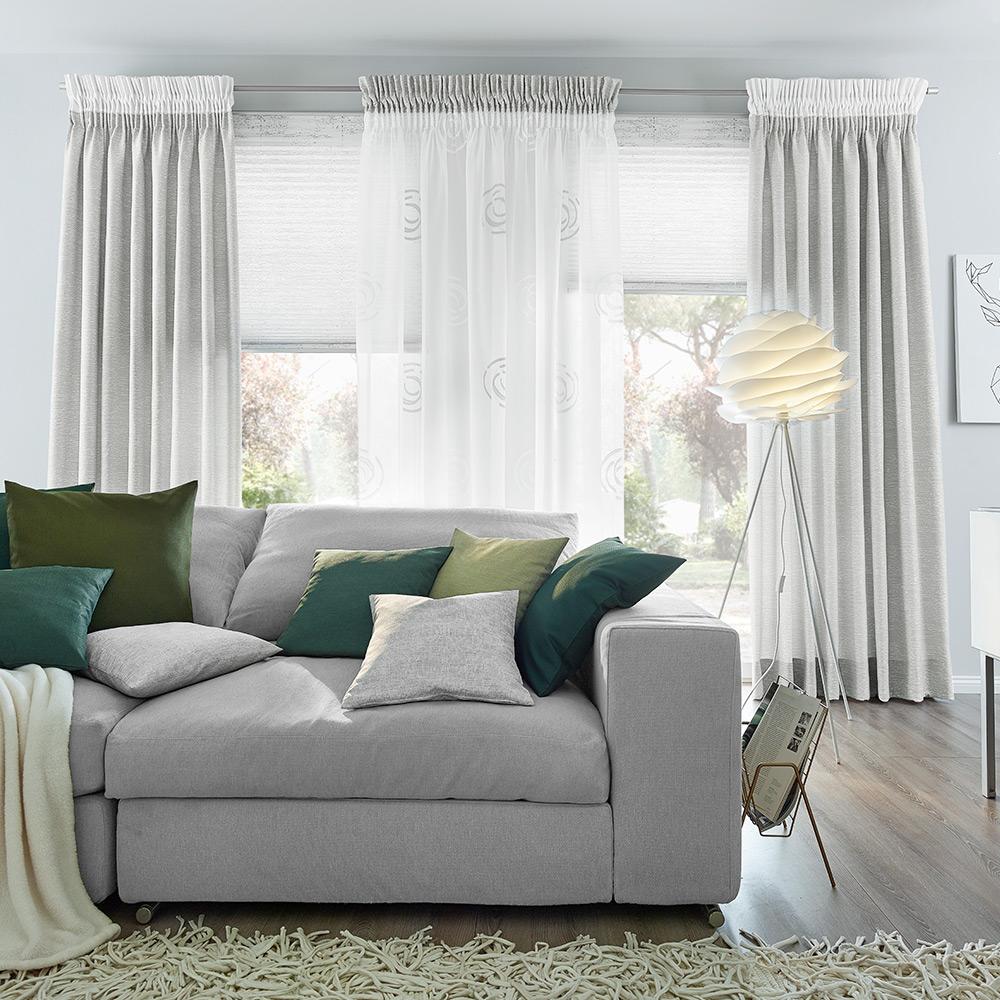 Dekorative Gardine für Ihr Wohnzimmer