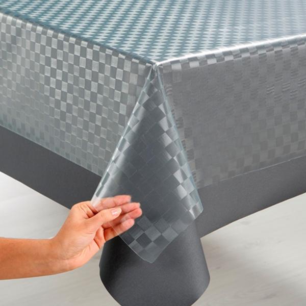 Glasklarfolie London für Ihre Esszimmer-Tischdecke