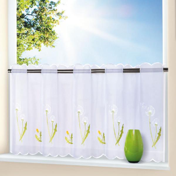 Gardine Blumenmotiv für Ihre Küche