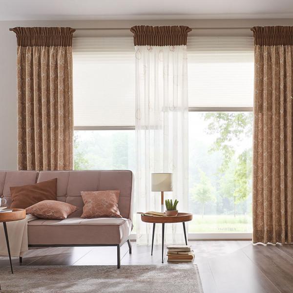 Gardinen-Vorhang-Deko für Ihr Wohnzimmer